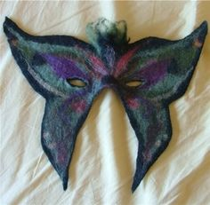 Needle Felted Butterfly Mask