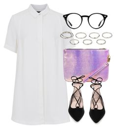 """""""Untitled #5551"""" by laurenmboot ❤ liked on Polyvore featuring French Connection, Topshop, Ray-Ban and Akira"""