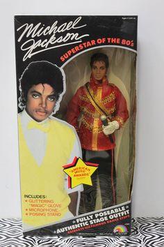 "Vintage 1984 MICHAEL JACKSON AMA DOLL American Music Awards 11"" LJN NEW SEALED #LJN #Dolls"