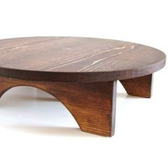 Cake Stand Wedding Cake Stand Wood Cake Stand Pedestal Table Riser Brown Finish 17 x 17 Custom.