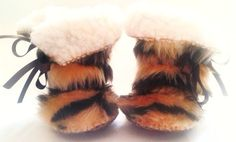 Baby Photo PropTiger Animal Print Fur Baby Boots by funkyshapes, $32.95