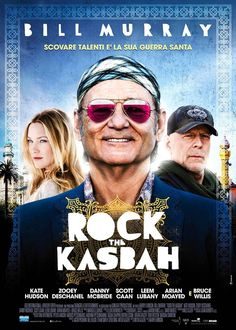 Rock the Kasbah (2015) R | 1h 46min | Comedy, Music, War | 23 October 2015 (USA) - A down-on-his-luck music manager discovers a teenage girl with an extraordinary voice while on a music tour in Afghanistan and takes her to Kabul to compete on the popular television show, Afghan Star.