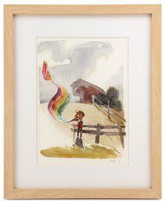 """Kite Done"" by artist Chris Appelhans - Rainbow Monstr show"