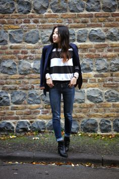 STRIPES X BLUE | Following-mi streetstyle fashion stripes