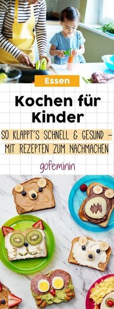 for children: It& quick, easy and healthy! - Kind essen Cooking for children: It's quick, easy and healthy! - Kind essen - Cooking for children: It's quick, easy and healthy! Food Art For Kids, Cooking With Kids, Children Cooking, Healthy Children, Good Food, Yummy Food, Party Buffet, Food Humor, Creative Food
