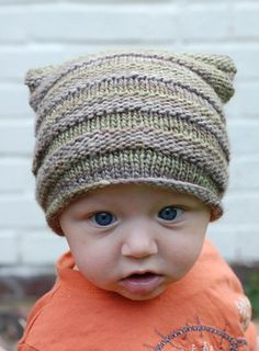 baby knit hat.