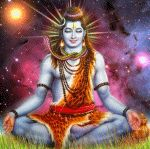 """""""In India, Shiva is often shown with his body a peculiar bluish white color. This is the result of smearing his person with ashes and soot, ashes being the symbol of death. Shiva is not only a. Shiva Art, Hindu Art, Kali Hindu, Ganesha Art, Bhagavad Gita, Good Morning Wishes Gif, Guru Gita, Gif Animated Images, Indiana"""