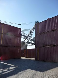 Victoria Quay shipping containers by JerseyArtsTrust, via Flickr