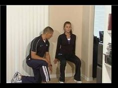 In-Home Leg Exercises : How to Do Wall Sit Exercises - YouTube