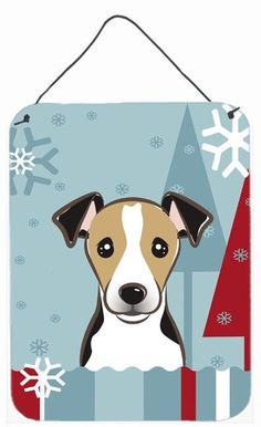 Winter Holiday Jack Russell Terrier Painting Print