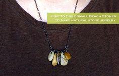beach pebble jewelry diy