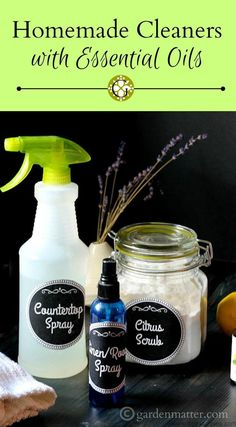 Homemade Cleaners with Essential Oils - Cleaning That Smells Great