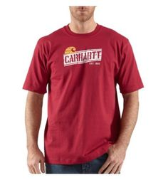 This is the T-shirt to wear on the job site -- Carhartt's Lumberyard Logo T-shirt made of heavy-duty 6.75-ounce 100% cotton jersey knit. On the weekend, wear it with a blazer and impress...whoever knows quality.  Two colors. A good deal at $25 since it lasts so long (and that red just improves with washing).