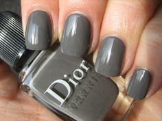 """Gorgeous in Gray - DIOR nail laquer """"Christian Approved"""""""
