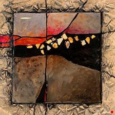 Gemstone 21 by Carol Nelson mixed media ~ 6 x 6