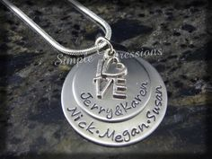 Personalized Hand Stamped Mothers Jewelry by SXpressions on Etsy, $23.95