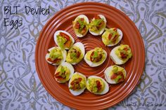 BLT Deviled Eggs | Join Us, Pull up a Chair #fantasticalfoodfight