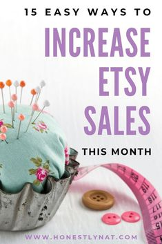 Hoping to increase Etsy sales? Here are some easy marketing strategies to use this month to increase Etsy sales in your online shop. And number three I find is the most reliable with the fastest results. And its free. Craft Business, Creative Business, Business Tips, Business Marketing, Business Branding, Content Marketing, Internet Marketing, Media Marketing, Digital Marketing