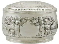 Dutch Silver Box - Antique Circa 1890