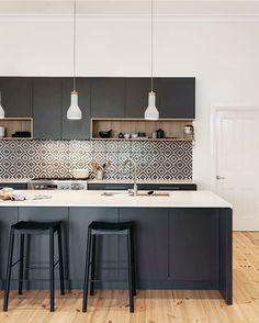 White cabinets, black island maybe?