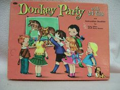 Pin the Tail on the Donkey Vintage Party Game by FabVintageEstates