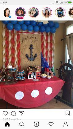 Pirate Birthday, Pirate Theme, Boy First Birthday, 2nd Birthday Parties, Birthday Fun, Pirate Party Decorations, Birthday Decorations, Mermaid Parties, 1st Birthdays