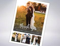 Custom Wedding Thank You Cards & Envelopes  Postcard Option