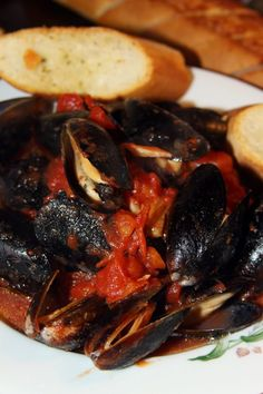 For the Love of Food: Italian Steamed Mussels Marinara Seafood Marinara Recipe, Seafood Recipes, Cooking Recipes, Brussel Sprouts With Pancetta, Mussels Marinara, Steamed Mussels, Molecular Gastronomy, Original Recipe, Mascarpone