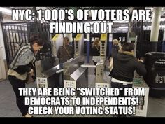 "NY Voters File LAWSUIT  alleging SWITCH of Party Affiliation! ""Threat to..."