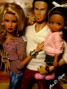 "fuckyeahdollsofcolor: ""The Davis Family by krixxxmonroe """