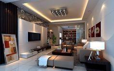 Contemporary living room interior design.