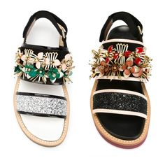 MARNI Platform & Wedge Glitter vs vet MARNI sandals 4