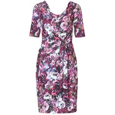 Diana Ferrari Lulu Floral Cowl Neck Dress