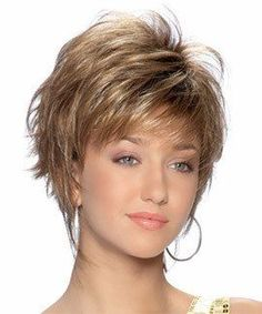 The Sienna by TressAllure has choppy, razored layers mixed with longer wispy layers accent this short, chin-length shag cut. This style is made with high quality Japanese fibers. Designed by Noriko Su