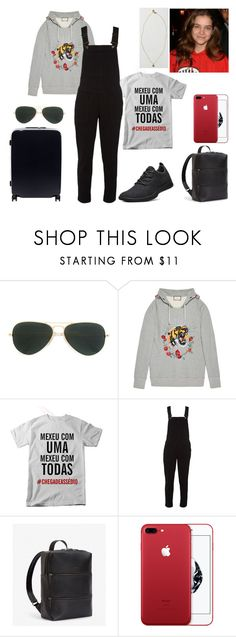 """Airport #18"" by tynabrookler ❤ liked on Polyvore featuring Ray-Ban, Gucci, White Stuff, Raden and Vintage Collection"