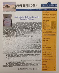 Check out the Library Newsletter! #morethanbooks #newsletter #june2013 #bulibrary