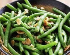 Haricots verts Croq'Kilos sautés aux amandes anti-fringale