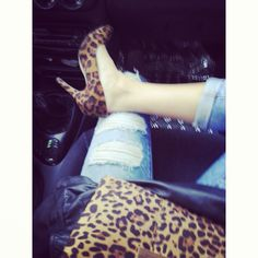 Coming soon... Animal print, leather and ripped jeans