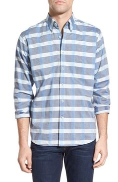 Maker & Company Regular Fit Wide Grid Sport Shirt