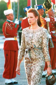 La princesa marroquí, Lalla Salma, combina las tradiciones de su país con influencias europeas.