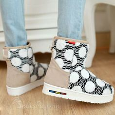 New Arrival Concise Lace Warm Non-Slip Snow Boots