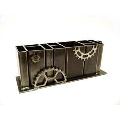 Very cool! Industrial Steel Mega Organizer by citizenobjects on Etsy, $120.00