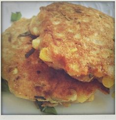 Corn Zucchini Basil Pancakes: Made this and it was SO easy and SO yummy. This recipe makes about 10 pankcakes.