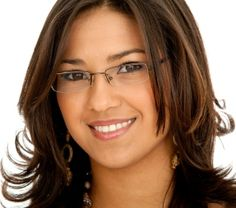 When selecting prescription eyeglasses frames for women, factors to consider include style, frame material/shape, lens type, coatings and face shape Nice Glasses, Girls With Glasses, Rimless Glasses, Eyeglasses Frames For Women, Fashion Eye Glasses, Womens Glasses, Face Shapes, Beautiful Eyes, Eyewear