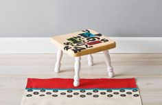 Handmade Charlotte Patterned STepsTool, really cute project found on Michaesl website.