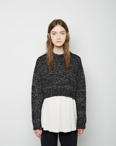 PROENZA SCHOULER   Cropped Marled Knit
