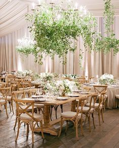 If you stepped into the heavily draped tent, you too would have LOVED the glow - giant French wire chandeliers, cream and white floral with olive branch detailing. super elegant and understated. a perfect environment for a perfect wedding . Wedding Reception Design, Tent Wedding, Indoor Wedding, Wedding Designs, Garden Wedding, Wedding Details, Rustic Wedding, Wedding Ideas, Tent Decorations