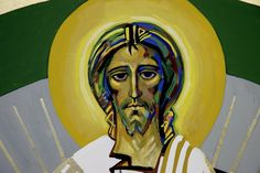 Christ contemporary icon by Kiko Argüello