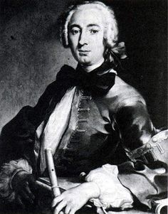 † Johann Joachim Quantz (January 30, 1697 - July 12, 1773) German composer, flute player and violin player.