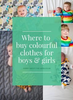 where to buy bright, fun and colourful unisex clothes for boys and girls
